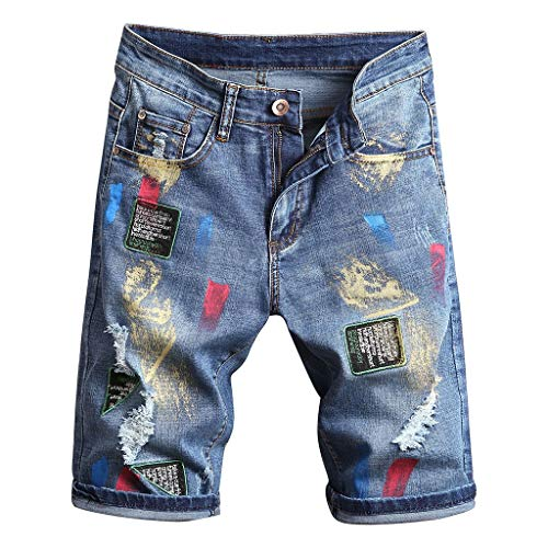 iHPH7 Jean Men,Pocket Jeans Men,Regular Fit Jeans Men,Relaxed Jeans Men, Ripped Jeans for Men,Slim Fit Jean Men,Skinny Jeans for Men,Straight Fit Jeans Men 36 3- Blue