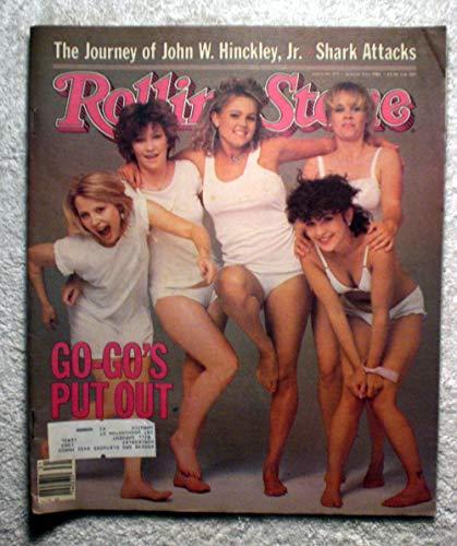 Belinda Carlisle, Jane Wiedlin, etc - The Go-Gos - Rolling Stone Magazine - #375 - August 5, 1982 - Shark Attacks, John Hinckley -