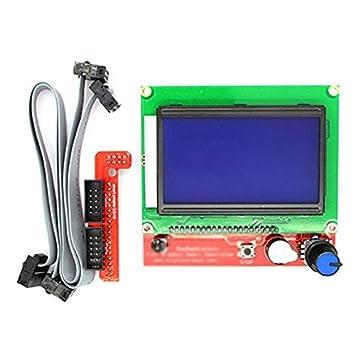 TOOGOO 12864 LCD RAMPS Smart Parts RAMPS 1.4 Panel de Control del ...