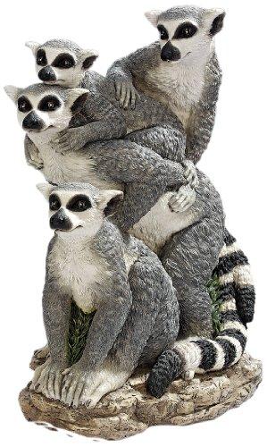 Design Toscano Ring-Tailed Lemur Family Statue, Multicolored