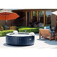 Intex Pure Spa buiten-whirlpool met 77 bubbelmassage Ø x H: 196 x 71 cm, kalkbeschermingssysteem 10 W, gelamineerd vinyl…
