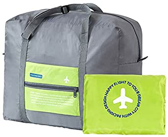 Dream Hunter Travel Duffels Bag DH Water-Proof Foldable, Gym Storage Portable Luggage Bag, Large Capacity, 32 L, Green