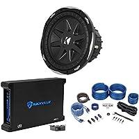 Kicker 10CVX104 CVX 10 600W Dual 4-Ohm Car Sub+750W Mono Amplifier+Amp Kit