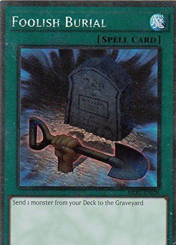 Foolish Burial Spell Platinum Rare Yugioh Card Single NKRT-EN028
