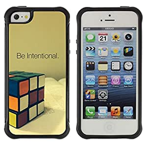 Jordan Colourful Shop@ Be Intentional Rubicks Cube Rugged hybrid Protection Impact Case Cover For iphone 5S CASE Cover ,iphone 5 5S case,iphone5S plus cover ,Cases for iphone 5 5S