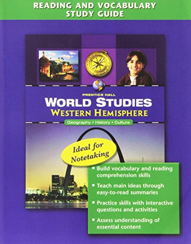 WORLD STUDIES WESTERN HEMISPHERE READING AND VOCABULARY STUDY GUIDE 2008C
