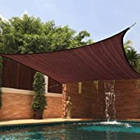 Modern Home Sail Shade Rectangle (16 x 12) - Chocolate