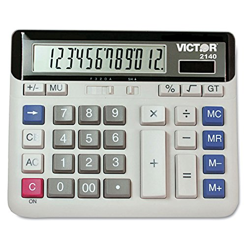 VICTOR TECHNOLOGIES 2140 2140 Desktop Business Calculator, 12-Digit LCD by Victor