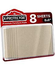 Meubilair Pads X-PROTECTOR - 8 Vilten Vellen 20x15 cm - Premium Vilten Pads - Vloerbeschermers voor Meubelpoten - Enorme hoeveelheid Vloerbescherming Pads - Gesneden Voetglijders die je nodig hebt!