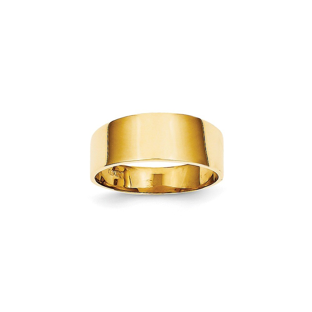 Jewels By Lux 14K 8mm Flat-top Tapered Cigar Band Ring