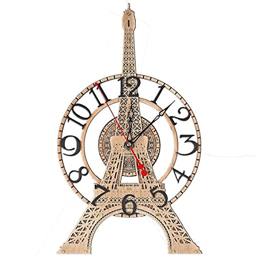 Eiffel Tower unique HANDCRAFTED large wooden wall clock detailed scale model French home decor, paris wall art, unique personalized gift