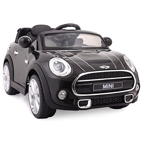 JAXPETY Black BMW Mini Cooper 12V Electric Kids Ride On Car
