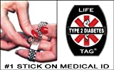 LIFETAG Type 2 Diabetes Medical ID Tags 5-pack FREE STANDARD SHIPPING