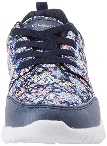 Lumberjack Mädchen Mosh Niedrige Sneaker Multicolore (Blue Multi Color)