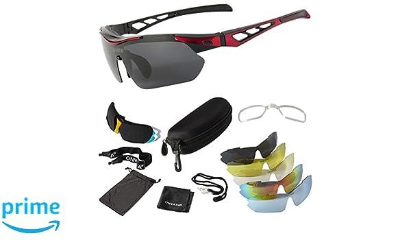 ONVAYA Sport Gafas UV400 13 Piezas Set de Accesorios en ...