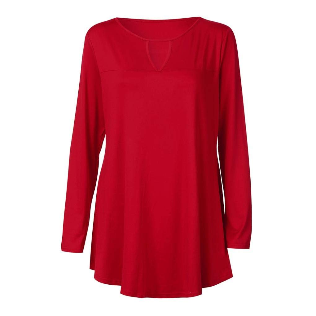 Clearance Women Tops LuluZanm O Neck Hollow Out Long Blouse Loose Casual Solid Long Sleeve Tops Shirts: Amazon.com: Grocery & Gourmet Food
