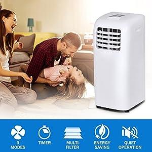 COSTWAY 10,000 BTU Portable Air Conditioner Dehumidifier Function Window Wall Mount w/Remote Control (Air Conditioner)