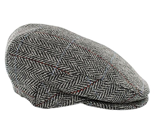fe9859b071e29 Mucros Weavers Trinity Tweed Flat Cap-Grey Tweed (XLarge)