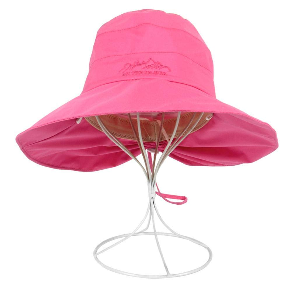 Todaytop Womens Anti UV Sun Hat with Drawstring/Adjustable Cotton Summer Hiking Hat Foldable Garden Hat for Outdoor Cycling Travel Beach