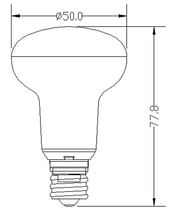4 Pack 5w Warm White R16r14e17 Basedimmable Led Flood Bulbs