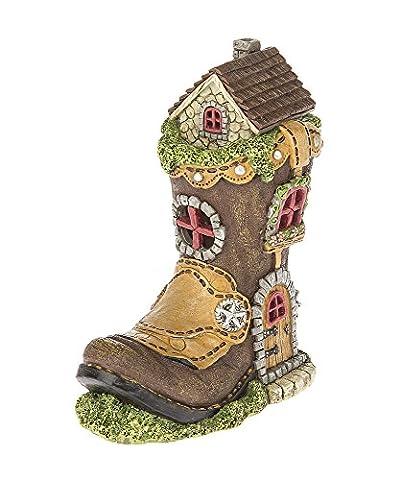 Ganz Home Decor Garden Fantasy Fairy Tale Collection Light Up Boot House (Kitchen Fairy Nativity)