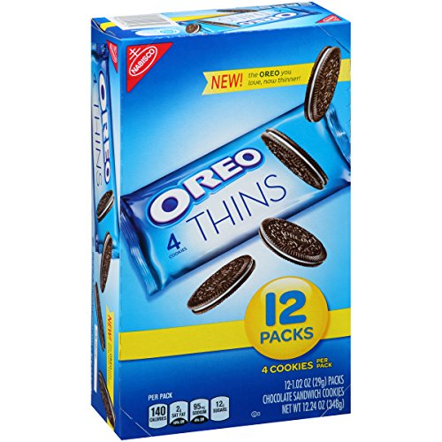 - Oreo Thins Single-Serve Cookie Multipack (12.24-Ounce Box)
