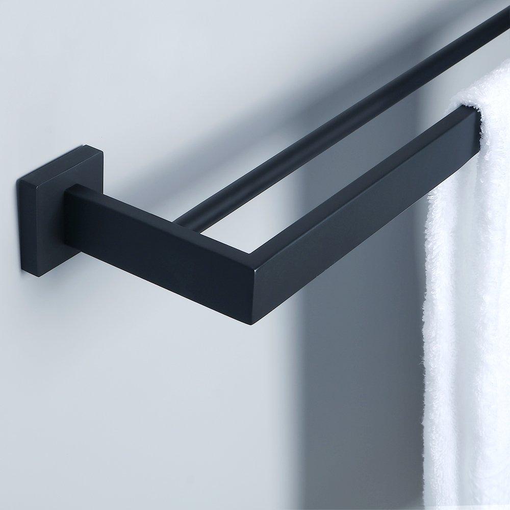 Amazon.com: Alise GA7202B Bathroom Double Towel Bar Wall Mount 24 ...