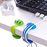 Cable Holder - Cord Organizer - Cable Management Clips - Wire Holder System -3 Packs Multipurpose Cable Clips for Phone Chargers, USB Cables - Home, Office, Nightstand, Desk Organizer by Jiulory