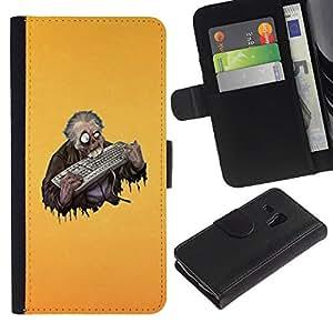 Lead-Star (Funny Keyboard Zombie) Colorida Impresión Funda Cuero Monedero Caja Bolsa Cubierta Caja Piel Card Slots Para Samsung Galaxy S3 MINI / i8190 (Not For S3)