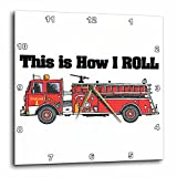 3dRose dpp_102607_2 This is How I Roll Fire Truck Firemen Design-Wall Clock, 13 by 13-Inch Review