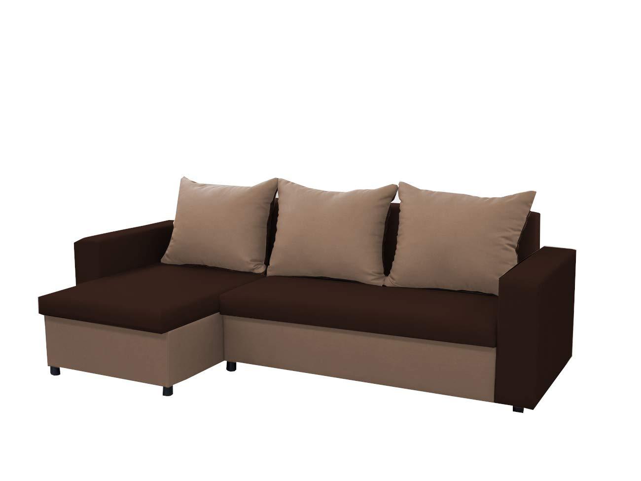 MEUBLO Pequeño sofá de Esquina Convertibles 3 Plaza con Dos ...