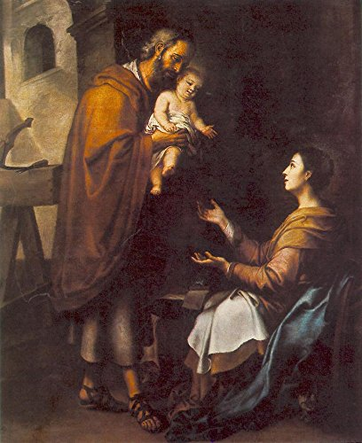 Murillo Bartolom¨¦ Esteban The Holy Family 2 100% Hand Painted Oil Paintings Reproductions 24X36 Inch by B-Arts