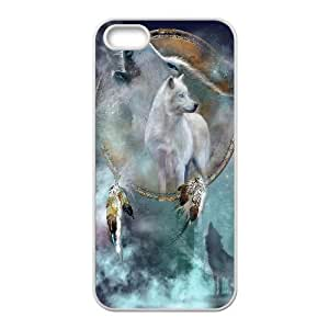 PCSTORE Phone Case Of Wolf Dream Catcher for Iphone 5 5g 5s
