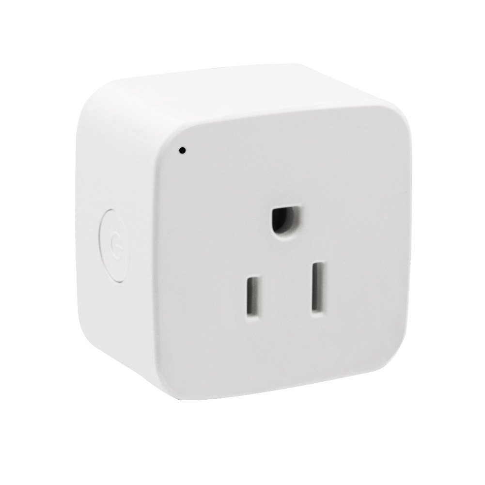 ZIMOO Mini Smart Wifi Outlet Plug Timer Switch Socket App Remote Control Compatible with Alexa Echo (Square-two-pack)
