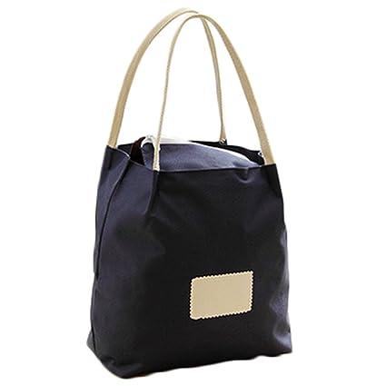 4e91a623ca1aa Amazon.com  Dylandy Pure Color Bucket Storage Bag Casual Oxford Tote ...