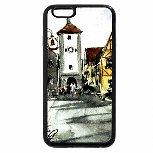 iPhone 6S / iPhone 6 Case (Black) Rothenburg, Germany