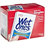 Wet Ones 4723 Antibacterial Moist Towelettes, 5 x 7-1/2, White, 1-Ply, 240 Wipes/Carton