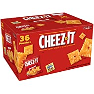 Cheez-It Baked Snack Cheese Crackers, Original, Single Serve, 1.5 oz Bags (36 Count)