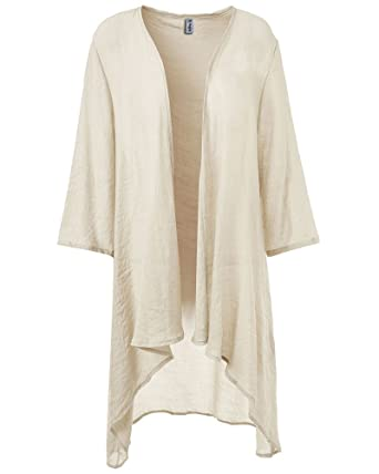 Najia Symbol Women's Summer Short Sleeve High Low Cardigan Tunic ...
