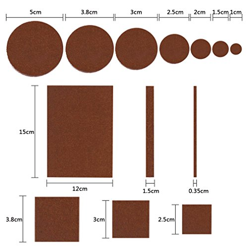 288 Piece Premium Furniture Felt Pads Maveek Furniture Feet Pads Brown 169 + Beige 119 Various Sizes Best Wood Floor Protectors Felt Furniture Coasters Protect Your Hardwood & Laminate Flooring by Maveek (Image #4)