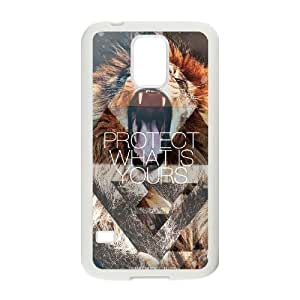 Custom New Cover Case for SamSung Galaxy S5 I9600, Hipster Lion Phone Case - HL-R688653