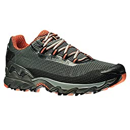 La Sportiva Wildcat Men's Trail Running Shoe, Carbon/Flame,45