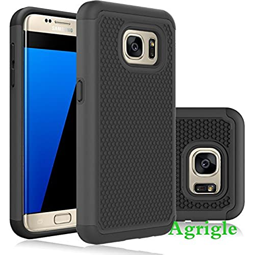 Galaxy S7 Case,AGRIGLE Slim Fit Shock Absorption Case Hybrid Dual Layer Drop Protection Armor Hybrid Defender Protective Case Cover for Samsung Galaxy S7 (Black) Sales