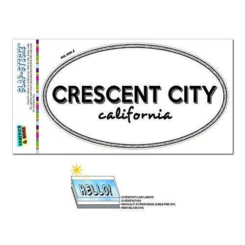 Graphics and More Euro Oval Window Bumper Laminated Sticker California CA City State Cal - Cut - Crescent City