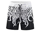 Best Octopus Bathing suits - Mens Boardshorts Summer Beach Board Shorts Octopus Black Review