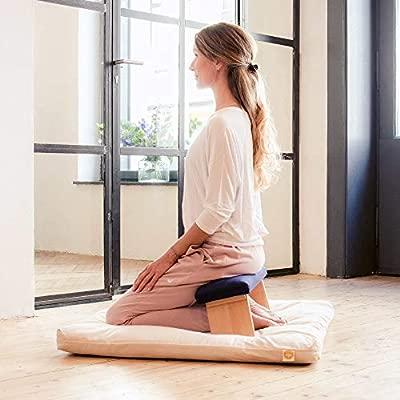 Lotuscrafts Banco de Meditación Dharma Plegable - Hecho en Europa - Taburete de Yoga de Madera Maciza de Haya - Banco de Meditación para una ...