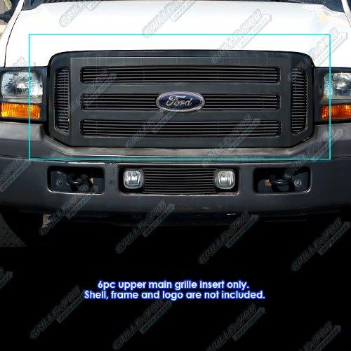 APS Fits 05-07 Ford F250/F350/Excursion Black Main Upper Billet Grille #F65799H ()