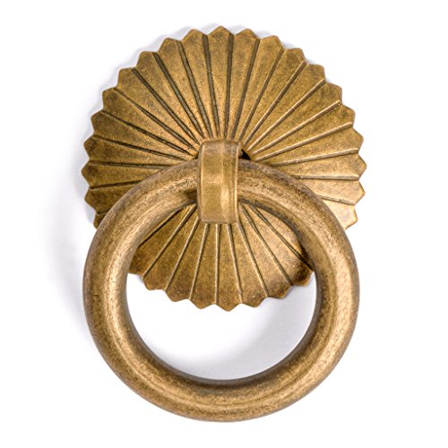 (CBH Ring Brass Hardware Drawer Pulls Set 1-3/16