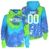 JANT Girl Custom Softball Tie Dye Sweatshirt - Play Tough White Logo