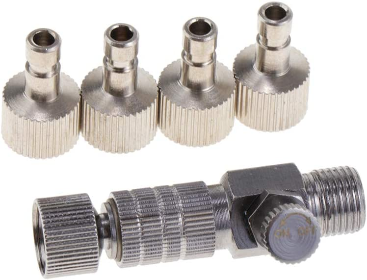 perfektchoice Air Brush Spry Connector 1//8 Plug Kit Set Case Hobby Craft Model Supplies